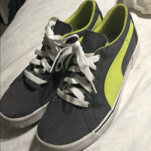 Puma Shoes | Puma Grey Green Canvas
